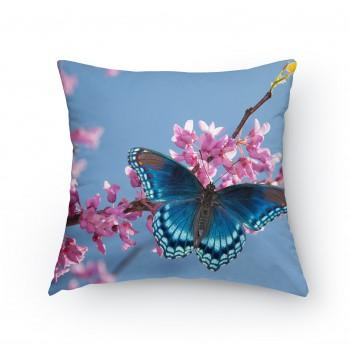 Polštářek - Modrý motýl