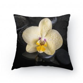 Polštářek - Žlutá orchidej 2