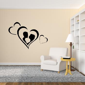 Samolepka na zeď - Zamilovaný pár 2