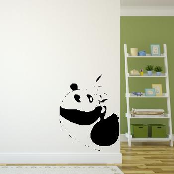 Samolepka na zeď - Panda s bambusem