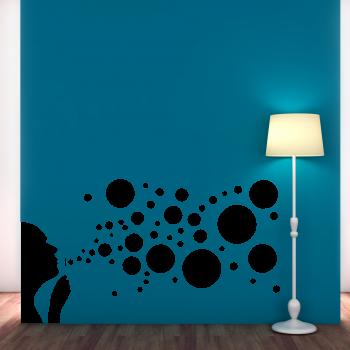 Samolepka na zeď - Bublifuk