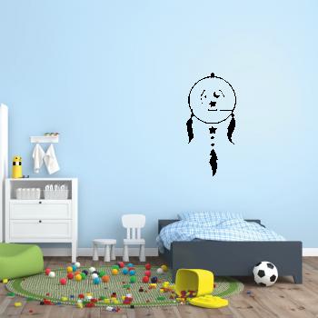 Samolepka na zeď - Dětský lapač snů