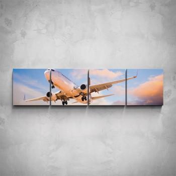 4-dílný obraz - Letadlo