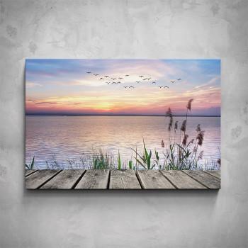 Obraz - Molo u jezera
