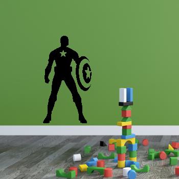 Samolepka na zeď - Captain America