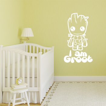 Samolepka na zeď - I am Groot