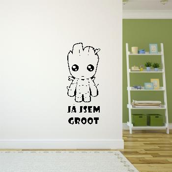 Samolepka na zeď - Já jsem Groot