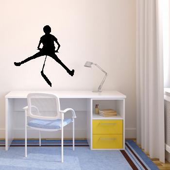 Samolepka na zeď - Skok s koloběžkou