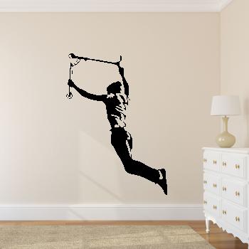 Samolepka na zeď - Freestylista s koloběžkou
