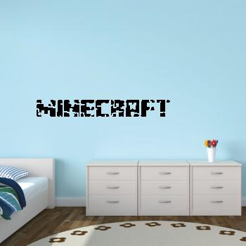 Samolepka na zeď - Minecraft nápis 2