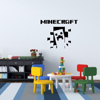 Samolepka na zeď - Minecraft strašidlo