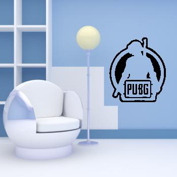 Samolepka na zeď - Hra PUBG
