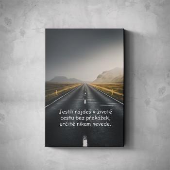 Motivační obraz - Cesta bez překážek nikam nevede