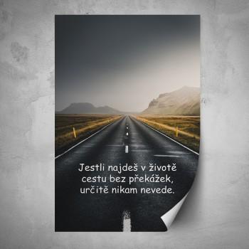 Plakát - Cesta bez překážek nikam nevede