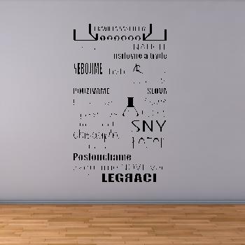 Samolepka na zeď - Pravidla naší třídy