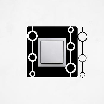 Samolepka na vypínač - Kruhy