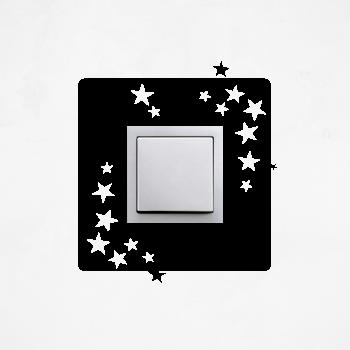 Samolepka na vypínač - Hvězdy