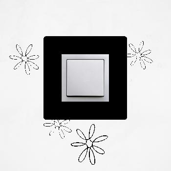 Samolepka na vypínač - Květy