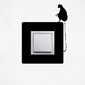 Samolepka na vypínač - Opička