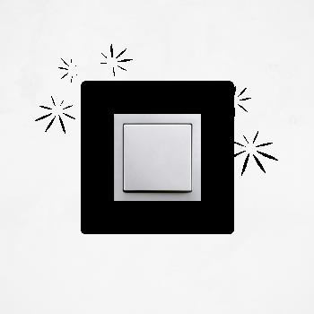 Samolepka na vypínač - Kvítí