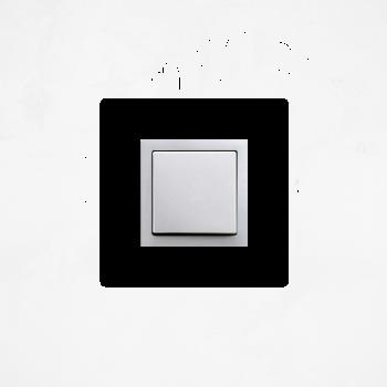 Samolepka na vypínač - Srdíčka