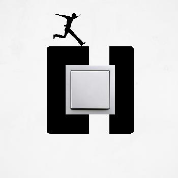 Samolepka na vypínač - Přeskok