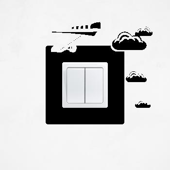 Samolepka na vypínač - Letadlo