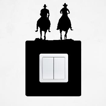 Samolepka na vypínač - Kovbojové