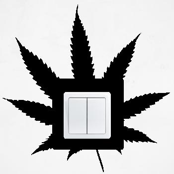 Samolepka na vypínač - Marihuana