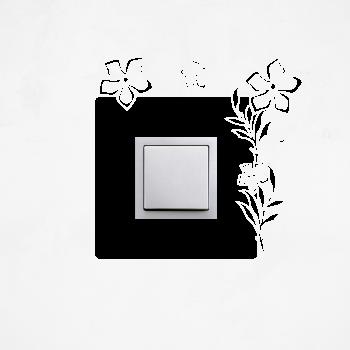 Samolepka na vypínač - Květiny se stonkem