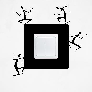 Samolepka na vypínač - Postavy