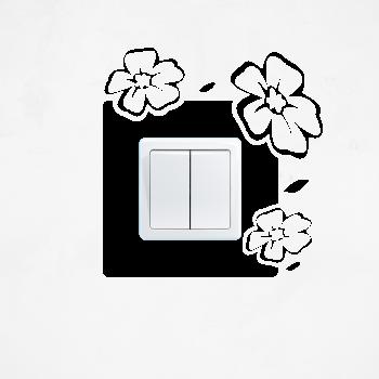 Samolepka na vypínač - Rozkvetlé květiny