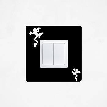 Samolepka na vypínač - Žabky