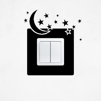 Samolepka na vypínač - Hvězdy s měsícem