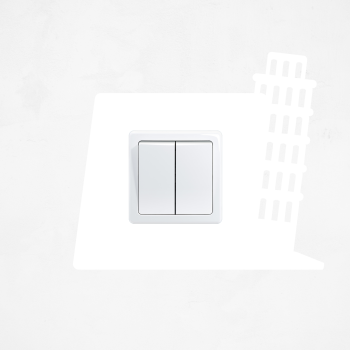 Samolepka na vypínač - Šikmá věž