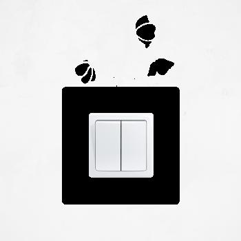 Samolepka na vypínač - Vlčí mák