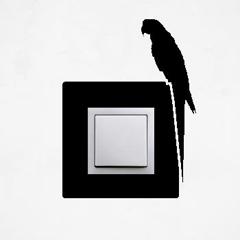 Samolepka na vypínač - Papoušek