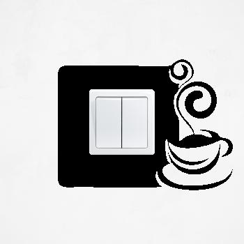 Samolepka na vypínač - Šálek kávy