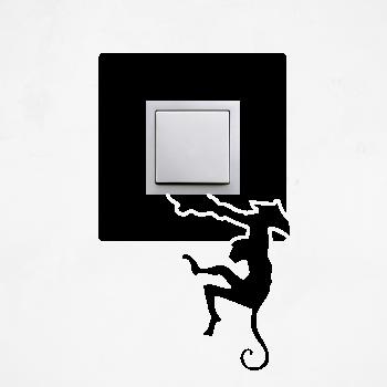 Samolepka na vypínač - Opice