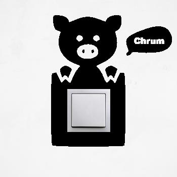 Samolepka na vypínač - Prasátko