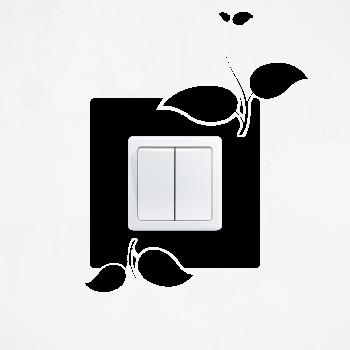 Samolepka na vypínač - Rostoucí květina