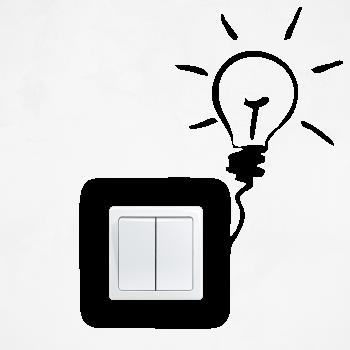 Samolepka na vypínač - Žárovka