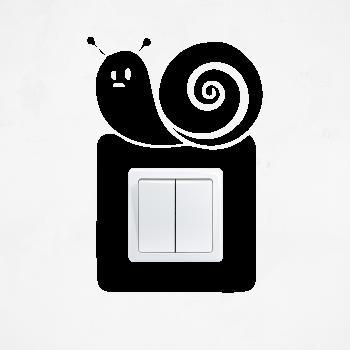 Samolepka na vypínač - Šnek