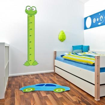 Samolepka na zeď - Dětský metr žába