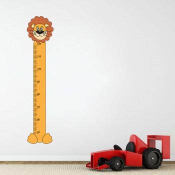 Samolepka na zeď - Dětský metr lev