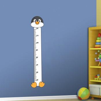 Samolepka na zeď - Dětský metr tučňák