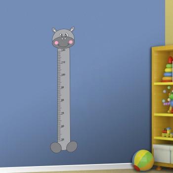 Samolepka na zeď - Dětský metr hroch