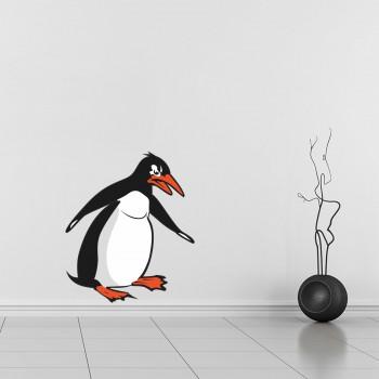 Barevná samolepka na zeď - Tučňák