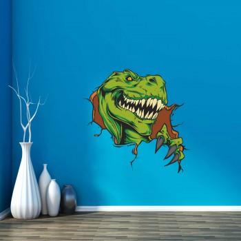 Barevná samolepka na zeď - Tyrannosaurus Rex