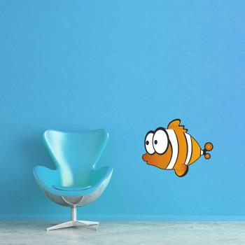 Barevná samolepka na zeď - Rybka Nemo